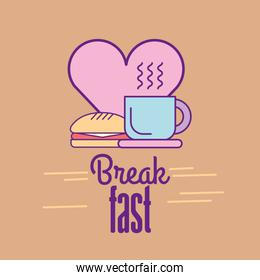 delicious Breakfast and food with heart