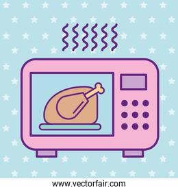 Chicken and microwave vector design
