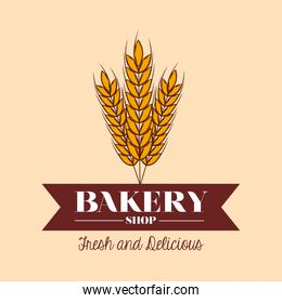 Wheat and bakery shop poster