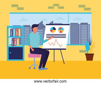 Workflow and infographic vector design
