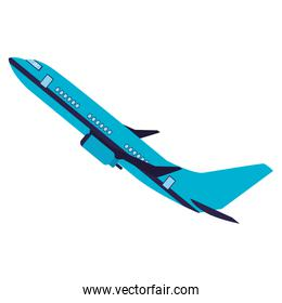 Isolated airplane vector design