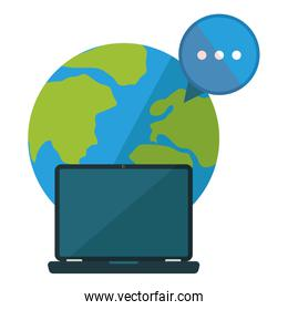 Isolated laptop vector design