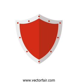 Isolated shield vector design