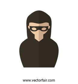 Hacker of security system vector design
