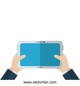 Isolated tablet vector design