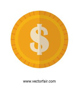 Isolated Coin vector design