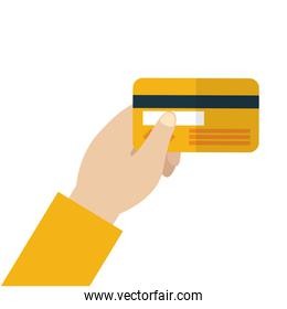 Isolated credit card vector design