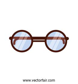 Isolated glasses vector design