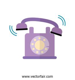 Isolated vintage phone vector design