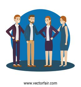 Group of businesspeople vector design