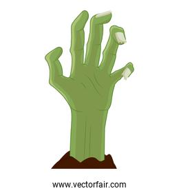 Halloween zombie hand vector design
