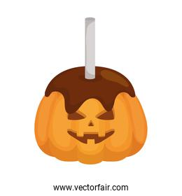Isolated halloween pumpkin candy icon