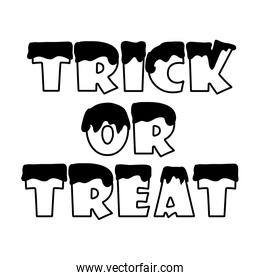 trick or treat halloween message