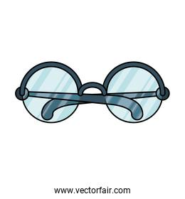 eyeglasses with circular lens  accessory isolated icon