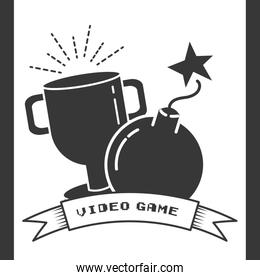 trophy and boom cartoon video game