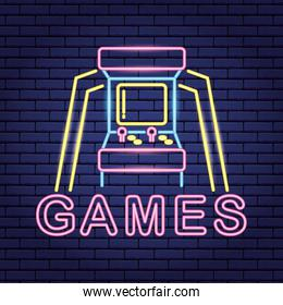 video game neon