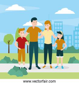 familiy day outdoors