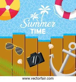 summer time holiday beach poster