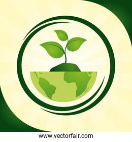 eco friendly planet design image