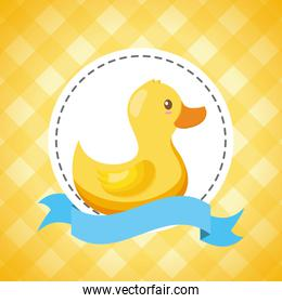 rubber duck decoration baby shower card