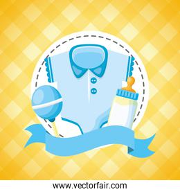 boy decoration baby shower card