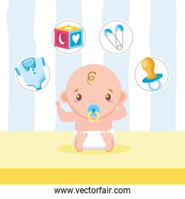 little boy pacifier cube clothes baby shower