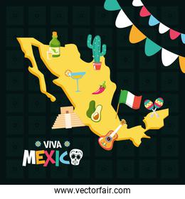 greeting card traditional party celebration viva mexico