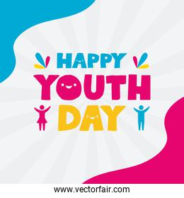 happy youth day flat design