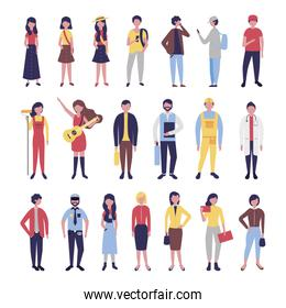 group of community people bundle characters