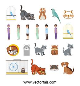 bundle of pet shop icons