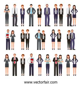 bundle of business people group