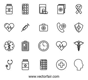 bundle of medical healthcare icons