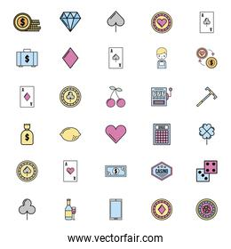 bundle of casino games icons