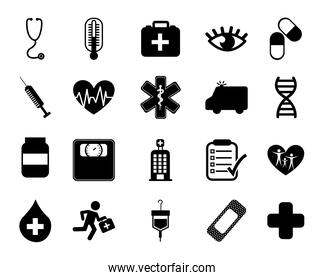 Isolated medical icon set vector design