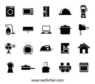 Isolated home appliance icon set vector design