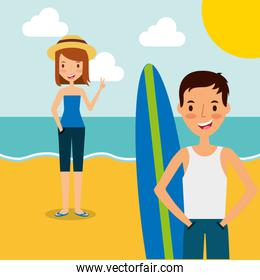 people summer vacations