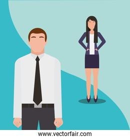 business man and woman team work people business