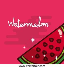 watermelon fruit delicious shiny poster