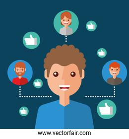 man character viral content people connection