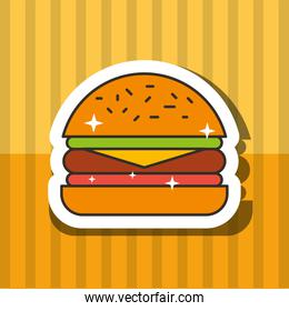 fast food hamburger meat tomato and letucce