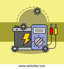 car service maintenance battery and electrical technician