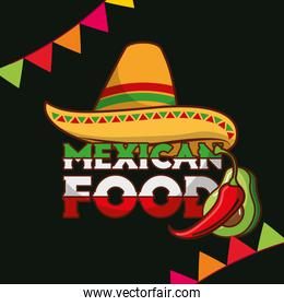mexican food card