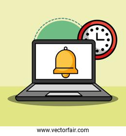 laptop and bell clock customer service