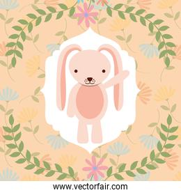 sweet pink bunny flowers decoration