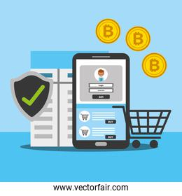 smartphone online shopping bitcoin security