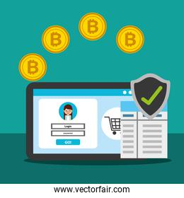 laptop online shopping website security cryptocurrency