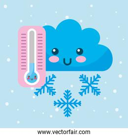 cold thermometer cartoon