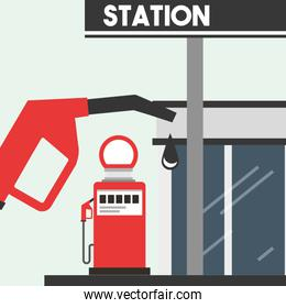 gas filling station service oil industry