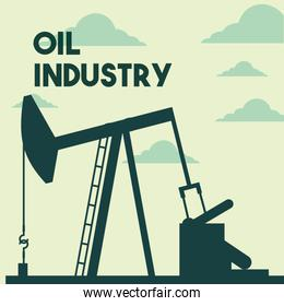 silhouette pump jack production oil industry
