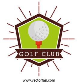ball golf club sport competition label